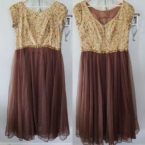 vintage 60s sequin brocade gown annes vogue shop